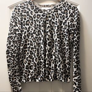 Leopard / animal print cardigan